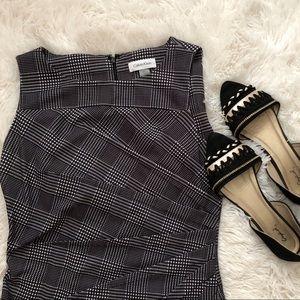 Calvin Klein Houndstooth Pleated Dress